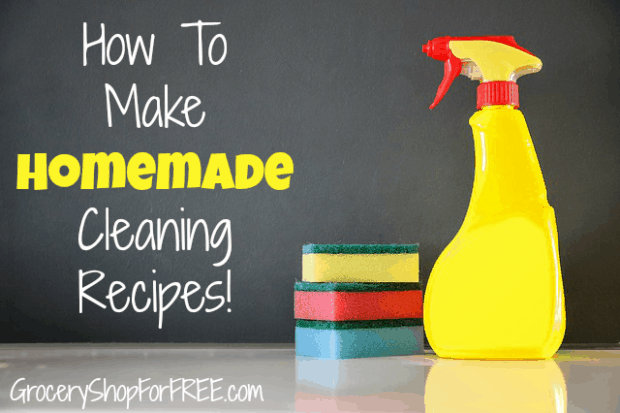 Making our own Homemade Cleaning Recipes is better because we know what's in them. These 11 Homemade Cleaning Recipes Include Homemade Dishwasher Detergent.