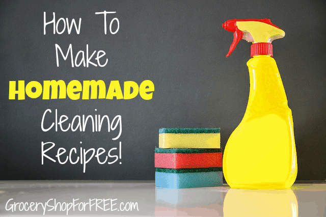 11 Homemade Cleaning Recipes! Includes Homemade Dishwasher Detergent!