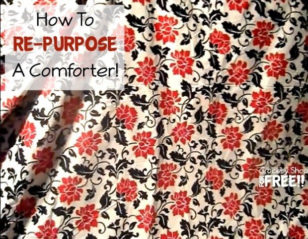 How To Re-Purpose A Comforter!