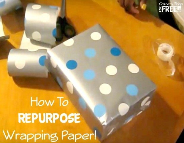 How To Repurpose Wrapping Paper!
