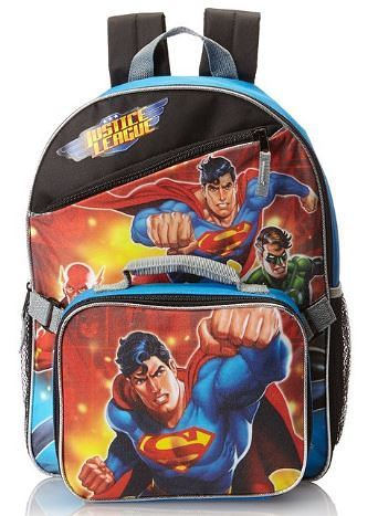 Justice League Backpack with Lunchbox Just $7 + FREE Shipping with Prime!