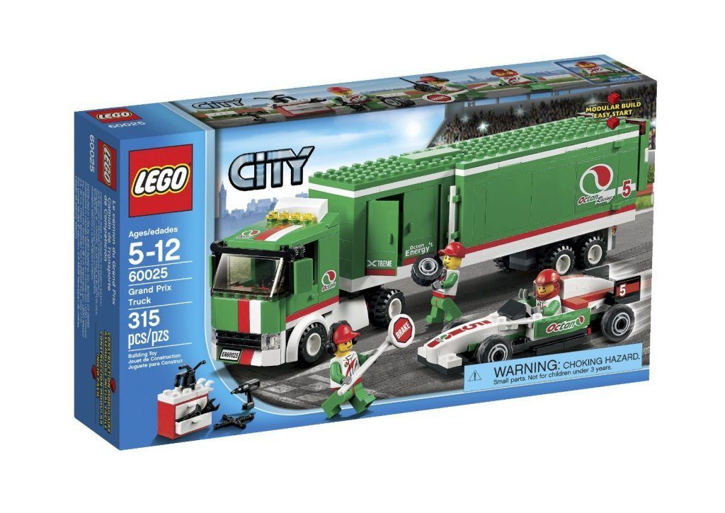 LEGO City Grand Prix Truck Toy Building Set