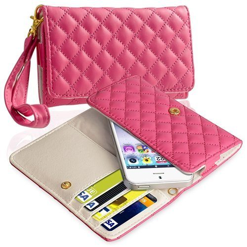Leather Cell Phone Wallet Case $3.84 + FREE Shipping!