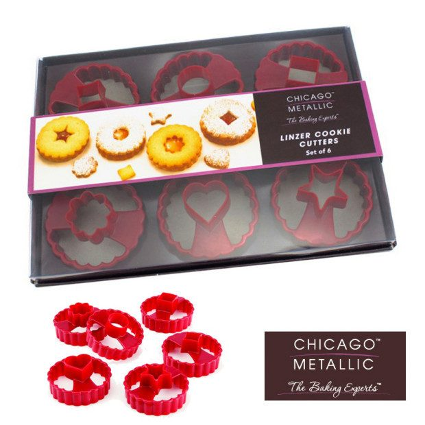 Linzer Cookie Cutters by Chicago Metallic Only $3.49 Ships FREE!