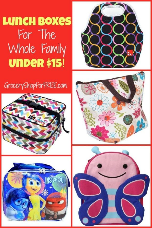 Lunch Boxes For The Whole Family  Under $15