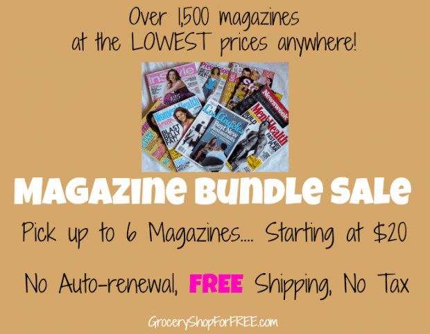 DiscountMags.com Magazine Bundle Sale Starting at $20!