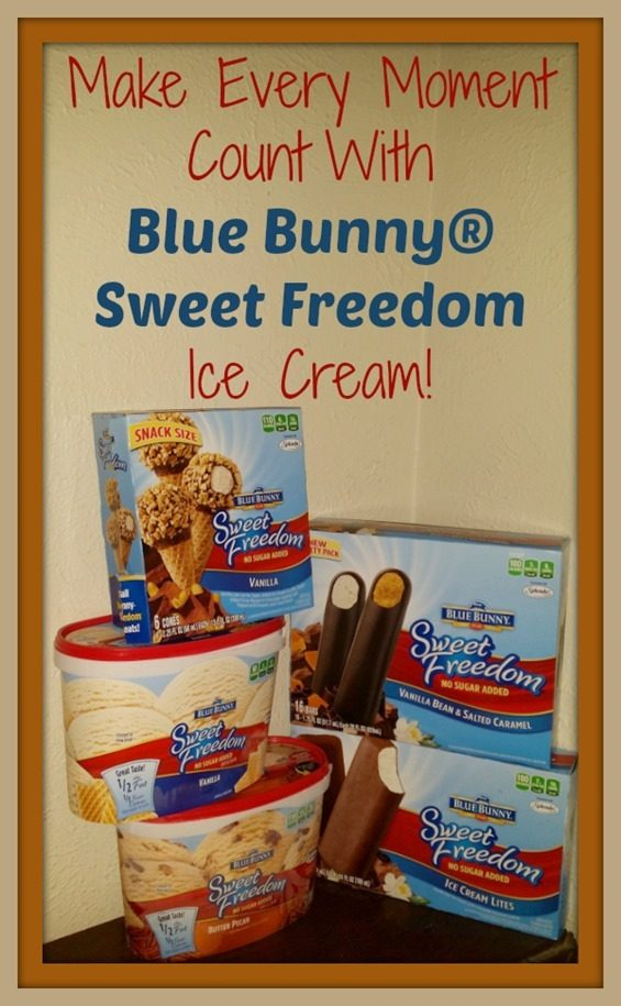 Make Every Moment Count With Blue Bunny® Sweet Freedom Ice Cream!