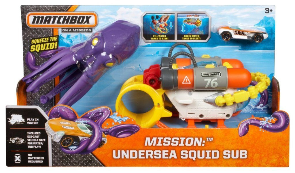 Matchbox Mission Undersea Squid Sub Playset