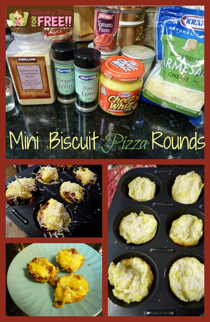 Mini Biscuit Pizza Rounds