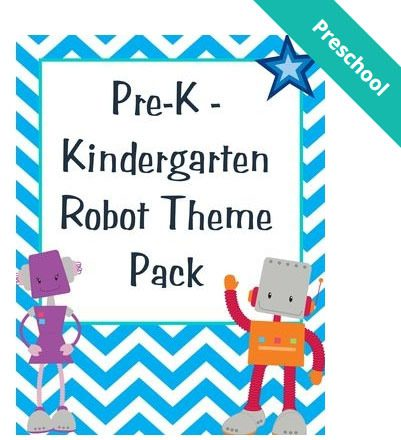 FREE Mini Robot Theme Lesson Pack!