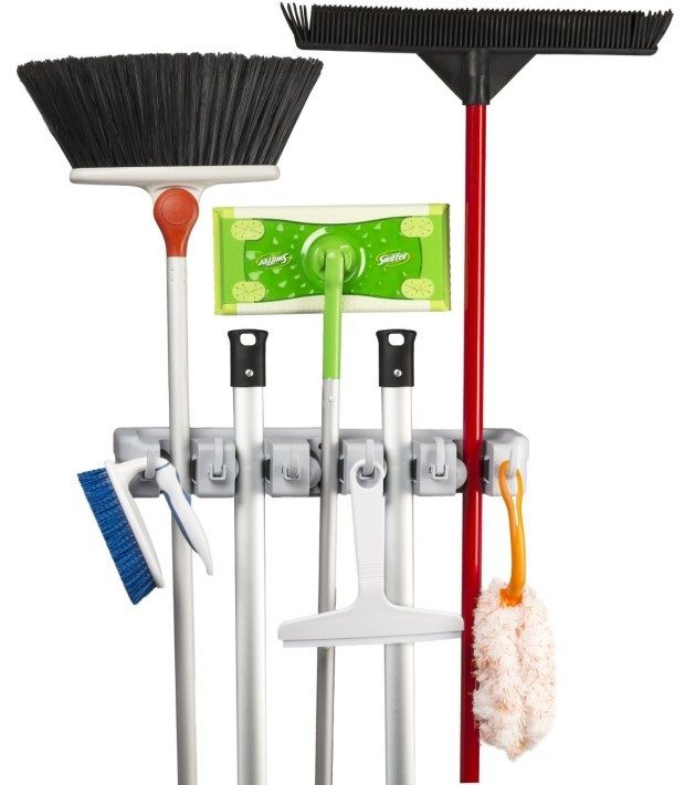 Mop and Broom Wall Mounted Storage & Organizer Just $9.79! (reg. $25.99)