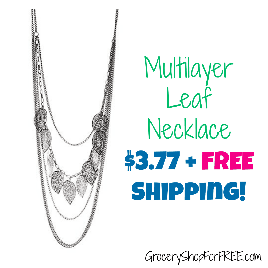 Multiayer Leaf Necklace $3.77 + FREE Shipping!