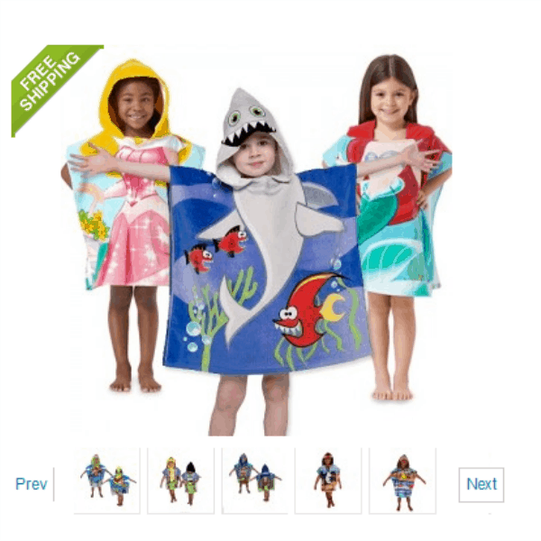 Northpoint Kids 100 Cotton Hooded Towel for Boys & Girls ONLY $9.99 + FREE Shipping!