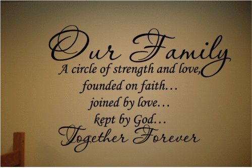 Our Family a Circle of Strength and Love Wall Vinyl Sticker Decal $3.03 + FREE Shipping!