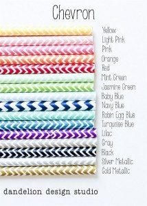 Cute Chevron Paper Straws Only $2.99!
