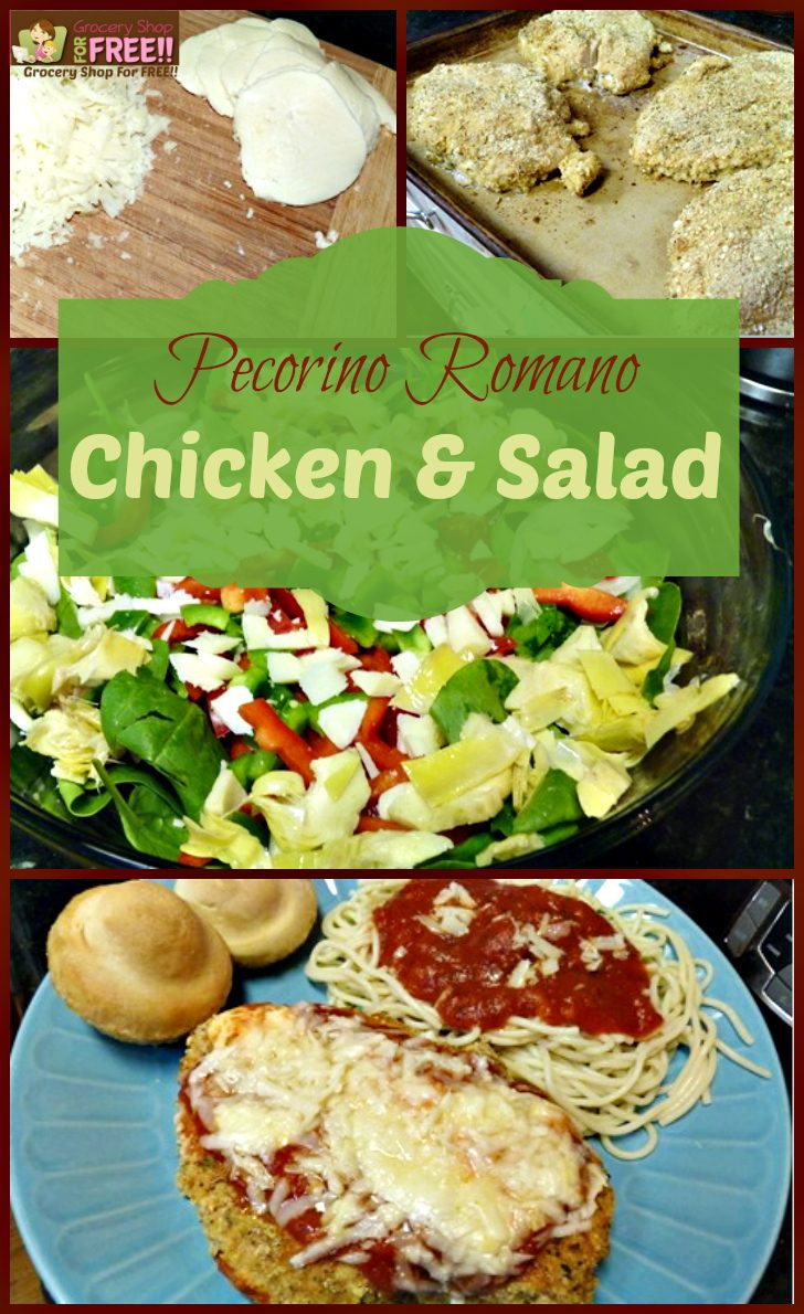 Pecorino Romano Salad And Chicken!