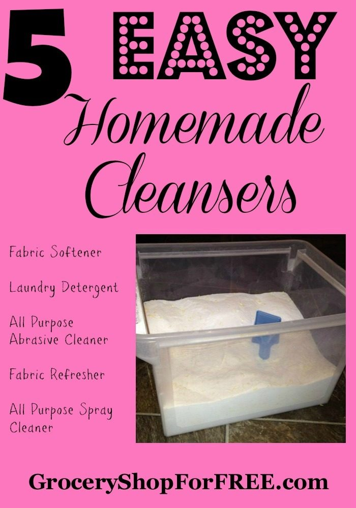 5 Easy Homemade Cleansers