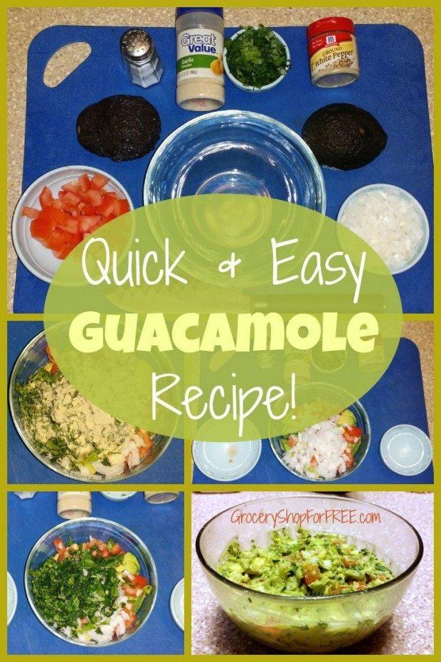 Quick & Easy Guacamole Recipe pin