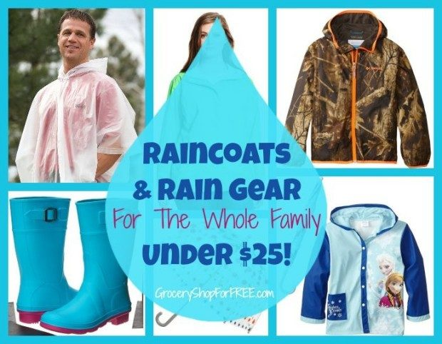 Raincoats & Rain Gear For The Whole Family Under $25!