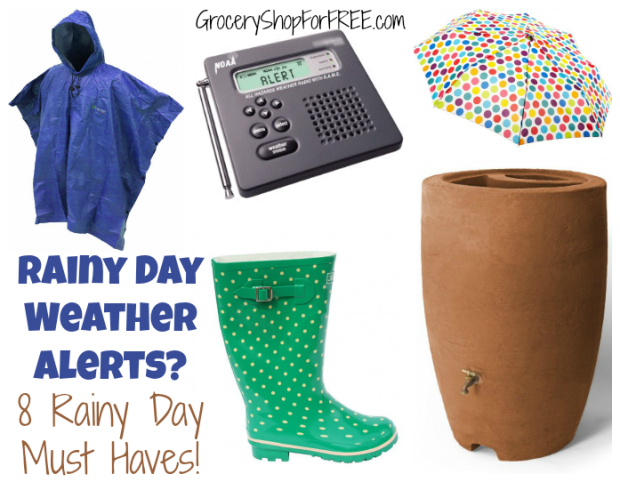 Rainy Day Weather Alerts?  8 Rainy Day Must Haves!