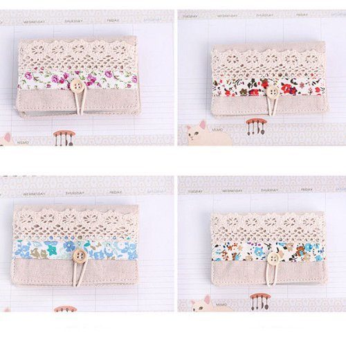 Retro Floral and Lace wallet card case Only $1.24!