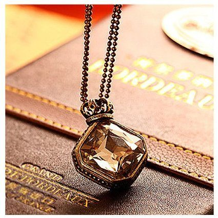 Rhombus Gem Pendant Only $2.45 + $0.85 Shipping!