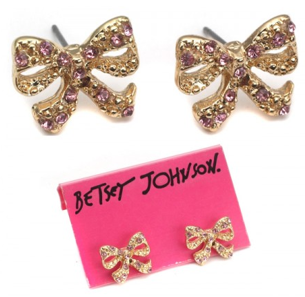 End of Retail: Betsey Johnson Golden Bow Earrings As Low As $5 Shipped!