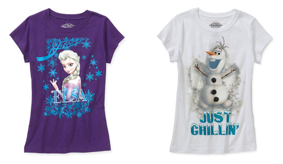 Disney Frozen Tees On Clearance $4.50 (Reg. $7.97)!