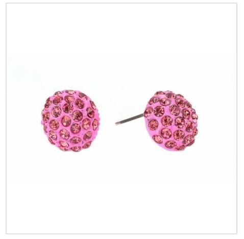 Hot Pink Pave Earrings As Low As $2 SHIPPED (Reg. $19.95)!