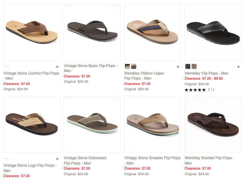 Men's Flip Flops Only $3.78 + FREE Shipping (Reg. $24+)!