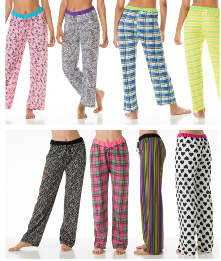 4-Pack of Ladies' Printed Lounge Pants Just $18.99 ( = $4.75 Each)!