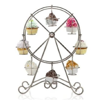 8-Cup Metal Rotating Ferris Wheel Cupcake Holder Only $8.95 (Reg. $24.99)!