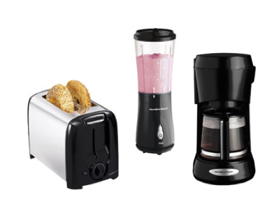Hamilton Beach Toaster, Blender + Coffee Maker Bundle $34.88 ( = $11.63 each)!