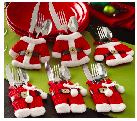 Santa Suit Christmas Silverware Holders Only $6.92 + FREE Shipping!