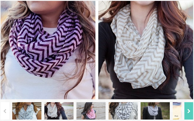 Chevron Infinity Scarves Only $3.99 (Reg. $19.99)!
