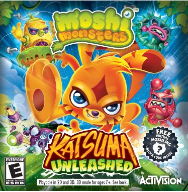 Moshi Monsters: Katsuma Unleashed For Nintendo DS and 3DS Systems Only $6.99-$9.97!