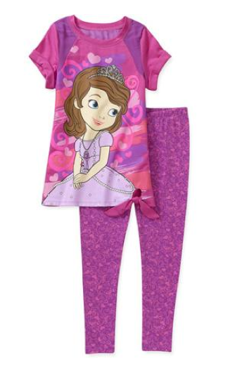 Disney Sofia the First Girls' 2 Piece Tunic and Legging Set On Clearance for $8 (Reg. $13)!
