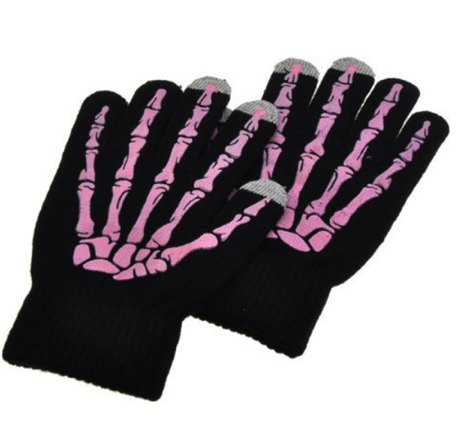 Pink Skeleton Capacity Touch Screen Gloves Only $6.99 + FREE Shipping!
