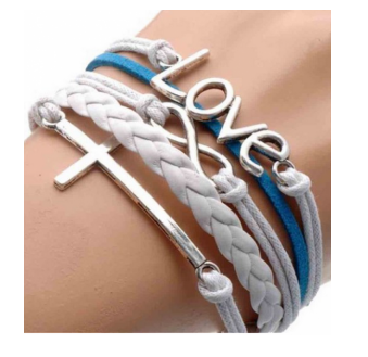 Love Infinity Cross Stacked Suede Bracelet Only $1.10 + FREE Shipping!