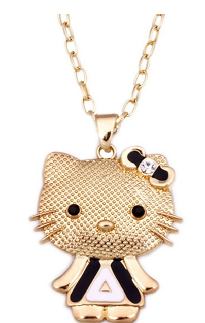Hello Kitty Rhinestone Necklace Only $2.72 + FREE Shipping!