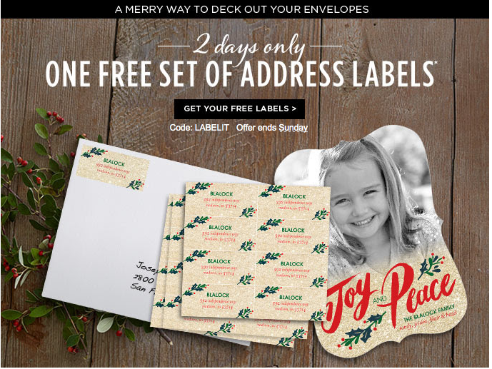 FREE Address or Gift Labels for New and Returning Customers!