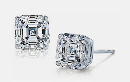 Sterling Silver CZ Asscher-Cut Stud Earrings $4.99 SHIPPED (Reg. $80)!