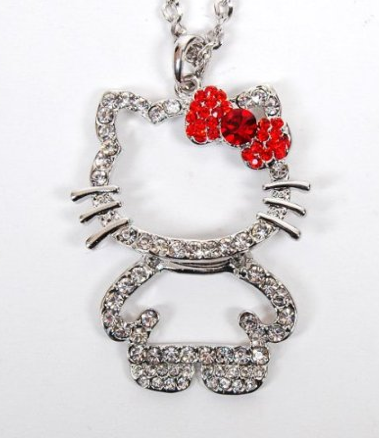 Hello Kitty Rhinestone Necklace Only $2.58 + FREE Shipping!