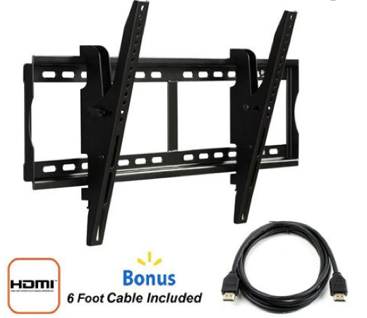"Tilting Wall Mount for 37"" to 70"" TVs + FREE HDMI Cable Only $18 + FREE Store Pickup!"