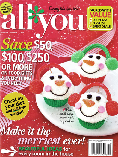 Pre-Black Friday Sale: ALL YOU Magazine Only $5 A Year ($0.42 Per Issue)!