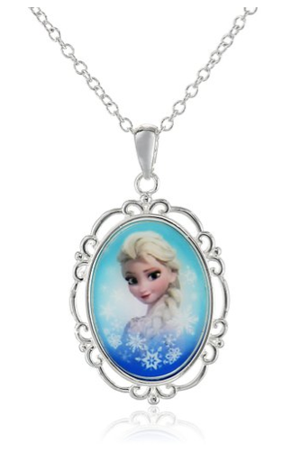 Disney Frozen Silver-Plated Elsa Pendant Necklace $12 + FREE Prime Shipping (Reg. $22)!