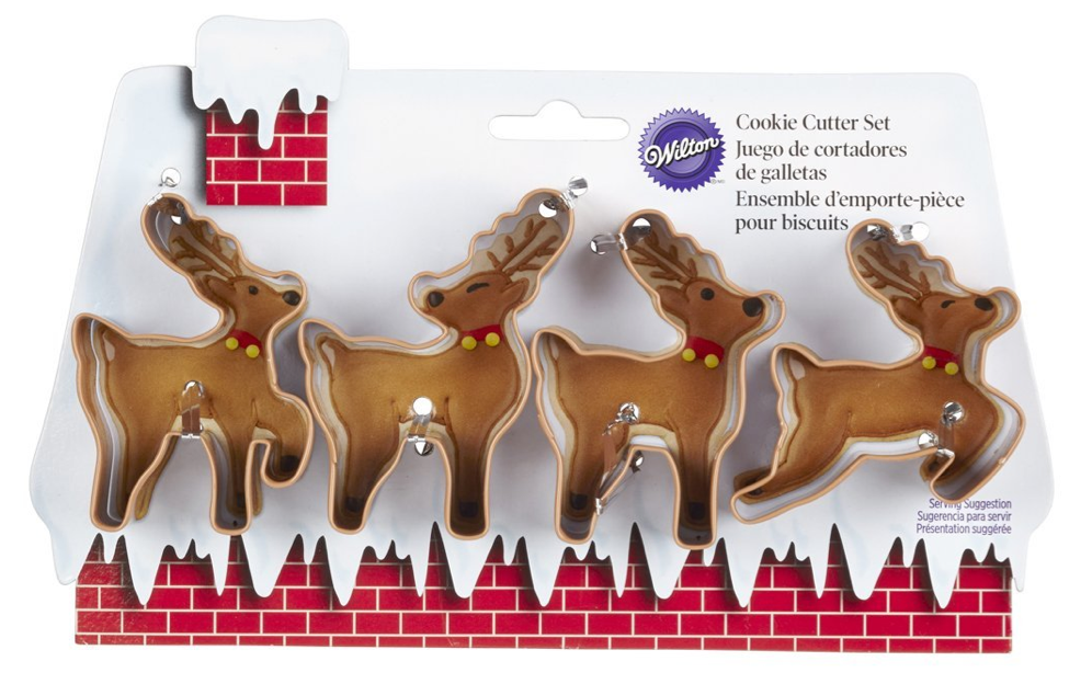 Wilton 4-Piece Christmas Reindeer Metal Cookie Cutter Set Only $6.86 + FREE Prime Shipping!