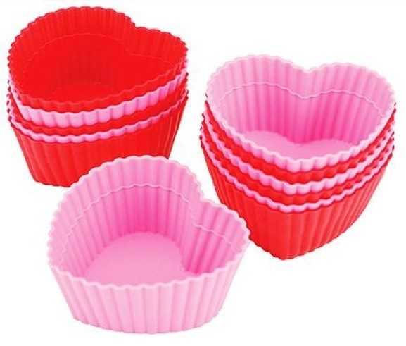 Wilton Heart Shaped Silicone Baking Cups 12-Pack ONLY $8.99 + FREE Prime Shipping!