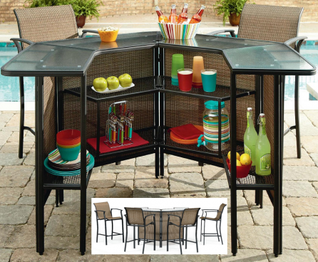5 Piece Patio Bar Set Just $299! (Reg. $600!)