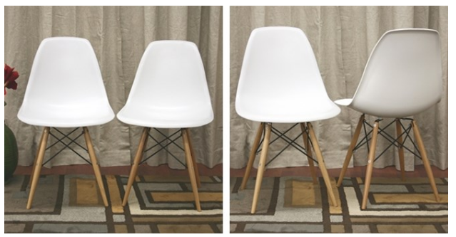Modern Shell Chairs - Set of 2 PLUS :fr: shipping! Was $400 Now $114.99!